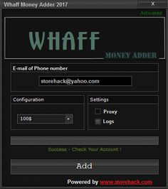 Hello everybody...today we present you Whaff Money Adder is a handy tool which lets you hack unlimited cash in your Whaff Account.