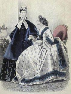 Les Modes Parisiennes, November 1863.