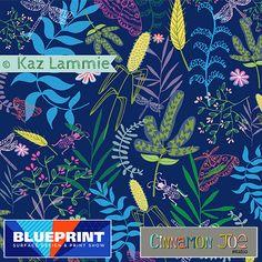 Midnight Garden surface pattern for Cinnamon Joe Studio @ Blueprint Show, NYC.