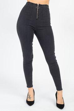 High Waist Denim Jeans   KjSelections Online Boutique Stores, Online Boutiques, Dark Grey Jeans, Black Jeans, Sexy Jeans, High Jeans, High Waist Jeans, Denim Jeans, Denim Fabric