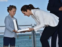 What's in the box? After all the formalities were taken care of, Princess Isabella showed her mother, Crown Princess Mary,  the contents of a white box, similar to something a dazzling necklace or jewelry piece would be found in