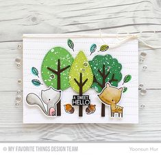 Forest Friends, Forest Friends Die-namics, Stitched Strip Die-namics, Tree-mendous Die-namics - Yoonsun Hur  #mftstamps