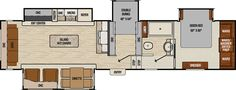 New 2017 Coachmen Chaparral Fifth Wheel RV for sale in Pennsylvania. Find more Coachmen Chaparral Fifth Wheel RVs at Keystone RV MEGA Center, your Greencastle PA RV dealer. Tent Campers, Cool Campers, Camper Trailers, Travel Trailers, Happy Campers, Travel Trailer Floor Plans, Rv Floor Plans, House Plans, Camper Flooring