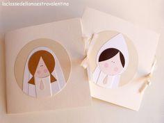 First Communion mini cards Première Communion, First Communion, Card Tags, Creative Cards, Cute Cards, Valentino, Mini, First Holy Communion, Board