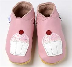 Cupcakes on Pale Pink soft soled leather baby booties shoes daisy roots Baby Booties, Baby Shoes, Pink Cups, House Gifts, Great British, Pink Leather, Pale Pink, Gifts For Kids, Daisy