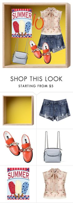 """SUMMER IN A BOX"" by destinystarheaven on Polyvore featuring Muuto, Fendi, Needle & Thread and Trina Turk"