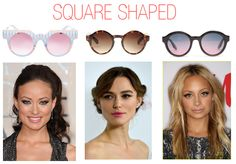 Choose the perfect sunglasses for your square face cut.