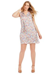 Dress In Floral Country Print by  Alice & You   Available in sizes 14-32