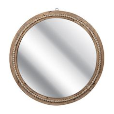 The Round Beaded Mirror will give your wall a lovely, rustic feel. You will love its classic design, and the way it reflects an abundance of light in your home. Round Wooden Mirror, Wood Mirror, Round Mirrors, Beaded Mirror, How To Clean Mirrors, Lakeside Living, Mirror Shapes, Beaded Rings, Rustic Feel