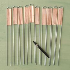 Terrain Copper Plant Markers, Vertical #shopterrain - $18 for set of 10.  Reusable - comes with a grease pencil for labeling.