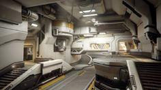 ArtStation - Halo 5: Guardians - Warzone Homebase Interior, Mark Nicolino