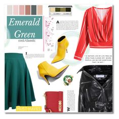 """How to wear Green skirt (Top Fashion Sets for 13th February 2018)"" by norairh ❤ liked on Polyvore featuring Topshop, Balenciaga, Moschino, Clinique and modern"
