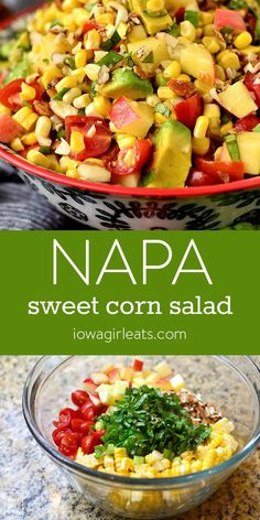 Napa Sweet Corn Salad is full of flavor and crunch!