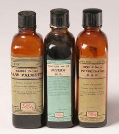 Lilly Pints Screw Top Glass Medicine Bottles