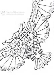 Steampunk Owl Coloring Page