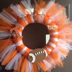 Tennessee Vols Tutu Wreath. $35.00, via Etsy.