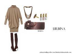 Outfit con clutch de URBINA, super chic.