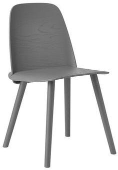 Nerd Chair - Wood Dark grey by Muuto