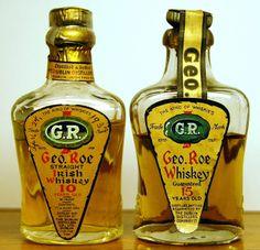 Geo. Roe Irish Dublin Pot Still Whisky miniatures from the 1930s