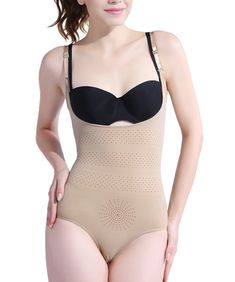 8f22d3563972 Franato Womens Underbust Shapewear Bodysuit Body Shaper Tummy Control Nude  L * Click image for more
