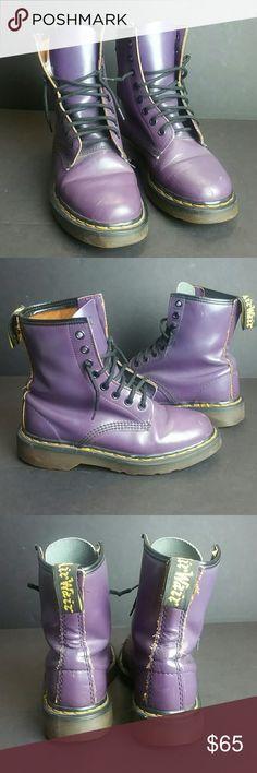 DR MARTENS WOMEN'S BOOT IN GOOD CONDITION WITH MINOR SCRATCHES WHICH IS NOT NOTICEABLE WHEN YOU HAVE IT ON   UK 3 US 5   SKE # OVPO Dr. Martens Shoes Combat & Moto Boots