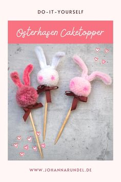 Leckere Rübli-Muffins & Do-It-Yourself Osterhasen-Caketopper Diy Ostern, Cake Toppers, Hair Accessories, Jewelry Making, Natural Colors, Easter Bunny, Craft Tutorials, Hair Accessory