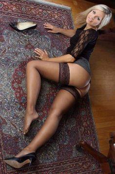 Erotic legs with black stockings photo 101