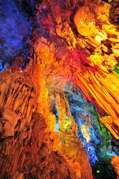Multicolored Stalagmites and Stalactites in China's Famous ...