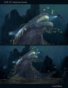 Creature Art.  Deep Sea Crawler