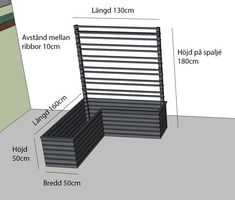 Cultivation boxes with trellises - in collaboration with Hornbach Growing Gardens, Small Gardens, Outdoor Plants, Outdoor Gardens, Potted Plants, Raised Planter Beds, Balcony Planters, Scandinavian Style Home, Outside Patio