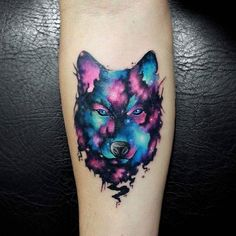 Wolf galaxy. #tattooed #wolf #wolftattoo #galaxy #galaxytattoo #watercolor #watercolortattoo #wctattoos #equilattera #skinartmag #skinartmagazine #inkedmag #tattoodo #thebestspaintattooartists #tattooersubmission #support_good_tattooers #support_good_tattooing #eternalink #stencilstuff #myworldofink #illustration #colombiatattoo #colombiaink #tatuadorescolombianos #tattoo2me #inksav #tattoo_art_worldwide #inkmachines #manizales #mundoskink