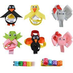 """24PCS 2-2.5"""" Hair Bow For Girls baby DIY Cute animals Hairpin Cheer bows Ribbon Kids Hair Clip Brand New Hair Accessories XC-A09"""