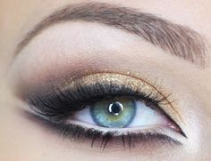 "MAC Blacktrack eyeliner, MAC Pigment ""Reflects Bronze"", black matte eyeshadow"