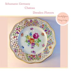 Vintage Porcelain Dresden Flowers by Schumann by PucaByElphiena