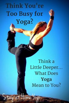 too busy for yoga?