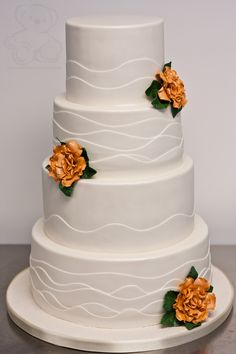 wedding cakes | Clean Wave Wedding Cake. Gainesville. | Dream Day Cakes