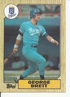 1987 Topps George Brett Baseball Card for sale online Famous Baseball Players, Major League Baseball Teams, Royals Baseball, Baseball Star, Baseball Photos, Baseball Cards For Sale, Football Cards, Baseball Batter, Pittsburgh Pirates Baseball