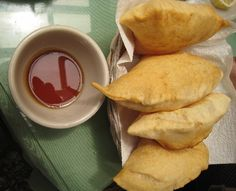 Sopaipillas at the Rancho de Chimayo restaurant in Chimayo, New Mexico... fun place to visit.