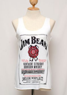 Jim Beam Whiskey  Beer Shirt  Very Thin White by Passion2flower, $12.99 Country Girl Style, Country Girls, My Style, Cool Outfits, Summer Outfits, Summer Clothes, Beer Shirts, Drinking Shirts, Hunting Clothes