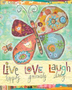 Pattern Collage Butterfly art from my new Etsy shop...www.lorisiebertstudio.etsy.com