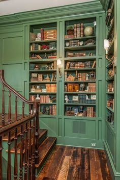 Awesome Wes Anderson Decor Ideas 111 – Home Office Design Vintage Future House, Casa Loft, Home Libraries, Aesthetic Rooms, Book Aesthetic, Aesthetic Vintage, House Goals, My New Room, Design Case