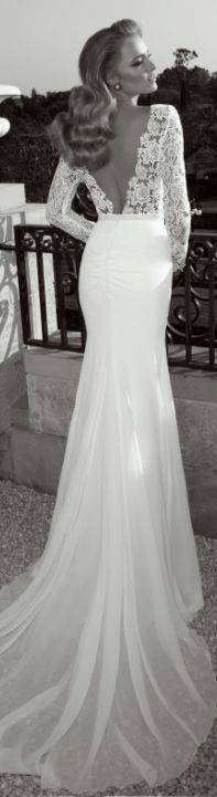 This is gorgeous, its stunning, the back is so dramatic. #WeddingPlanning #HappyPlanningBGP