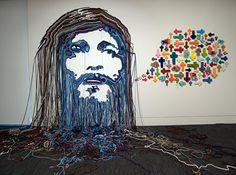Megan Hason- Knarhoi. Jesus Spells, 2011. click to enlarge