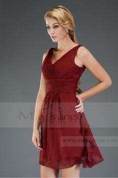 4a14503fd1e Robes de soirée courte Rouge Fonce Victoire - C302  2