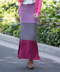 Look what I found on #zulily! Mauve Rachel Colorblock Maxi Skirt #zulilyfinds