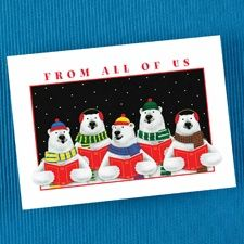 Festive Carolers - Holiday Card - Petite