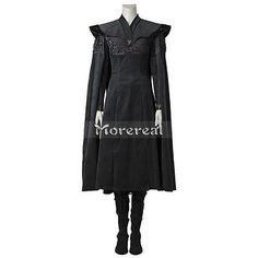 Game of Thrones Season 7 Cosplay Costume Daenerys Targaryen Fancy Dress Cloak