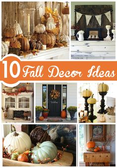 With the weather getting cooler, it's time to start decorating for Fall! Here are 10 fall decor ideas to get you started.