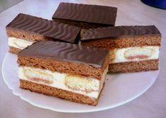 Hungarian Desserts, Romanian Desserts, Cake Bars, Something Sweet, Cakes And More, No Bake Desserts, Cake Cookies, Vanilla Cake, Tiramisu