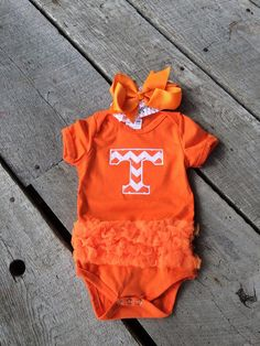University of Tennessee onesie UT baby Chevron by CloverDepot